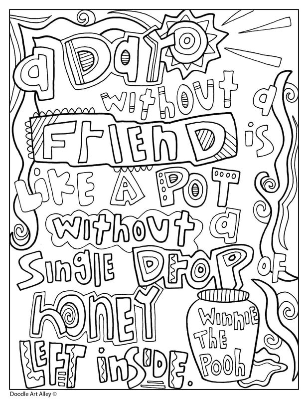 Winnie the Pooh Coloring Quotes - Doodle Art Alley