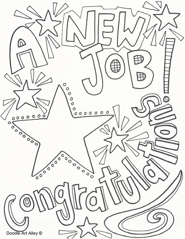 New Job Coloring Pages Doodle Art Alley