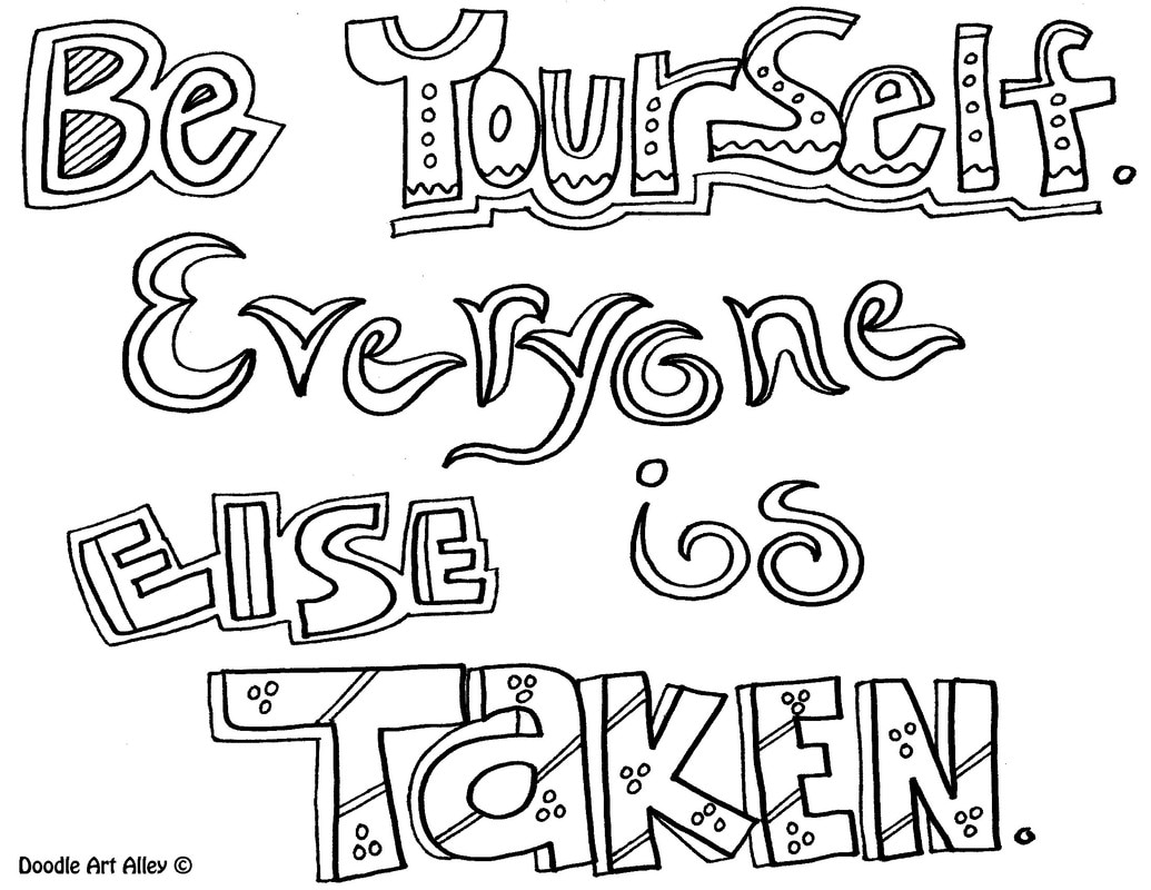 courage quote coloring pages doodle art alley