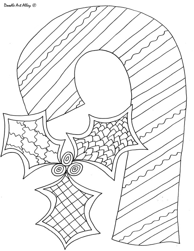 christmas art coloring pages - photo#24
