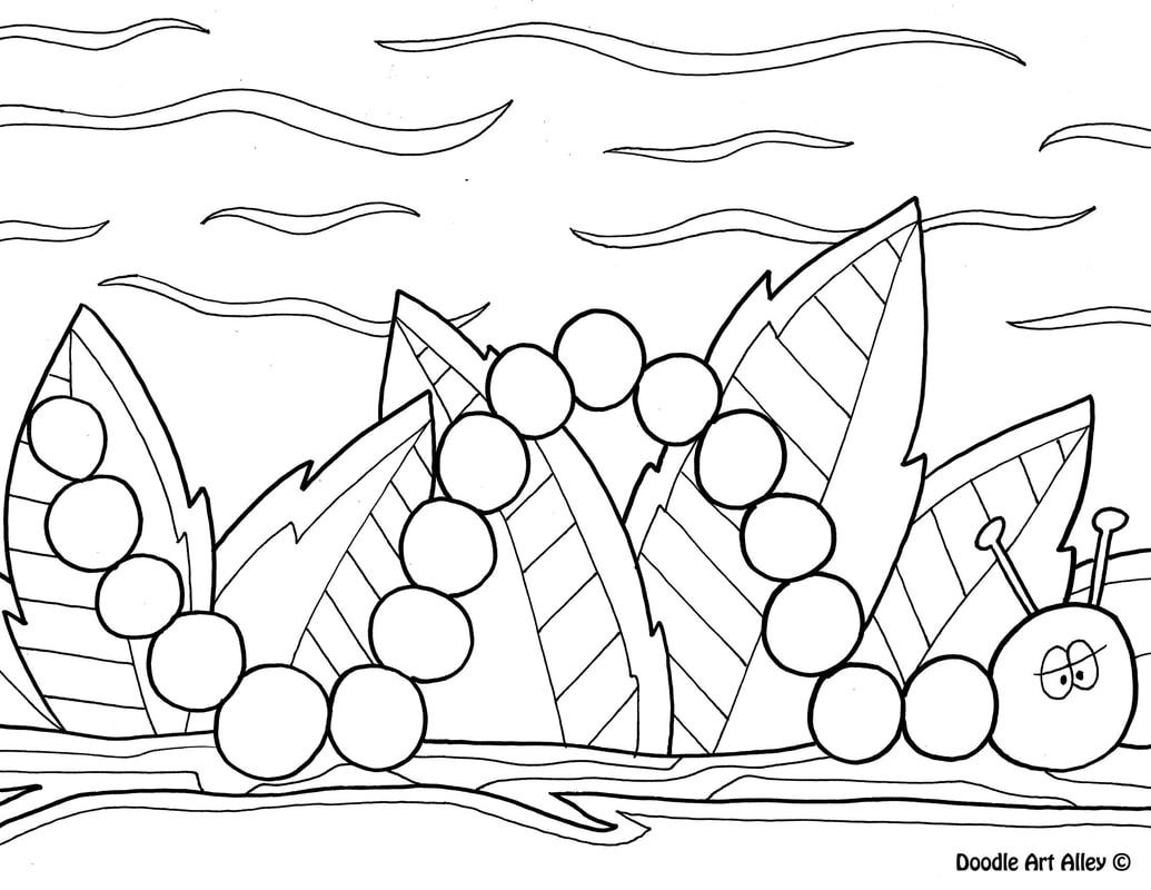 - Spring Coloring Pages - Doodle Art Alley