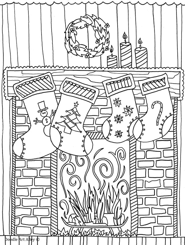 christmas art coloring pages - photo#10