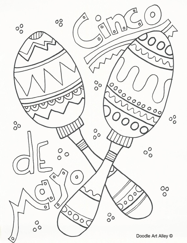 picture relating to Cinco De Mayo Coloring Pages Printable named Cinco de Mayo Coloring Web pages - Doodle Artwork Alley