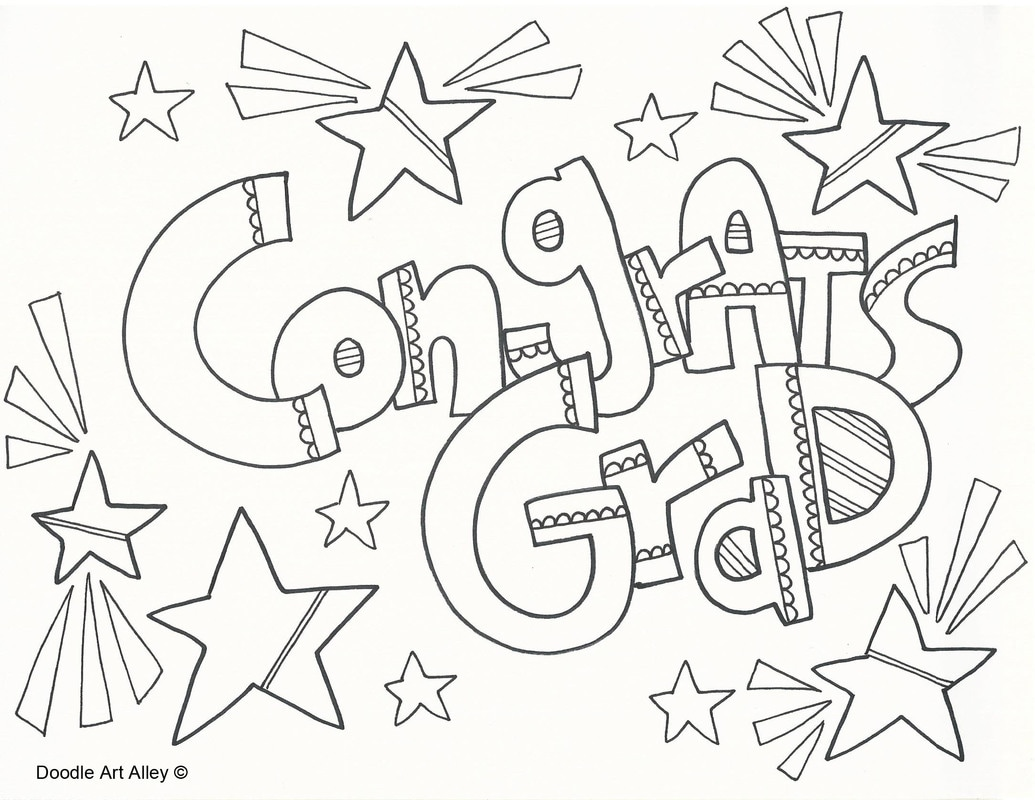 Graduation Coloring Pages Doodle