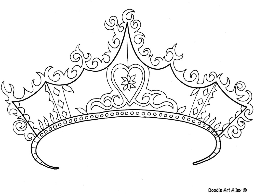 paper crown template for adults - princess coloring pages doodle art alley