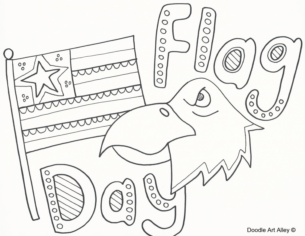 coloring pages for flag day - photo#9