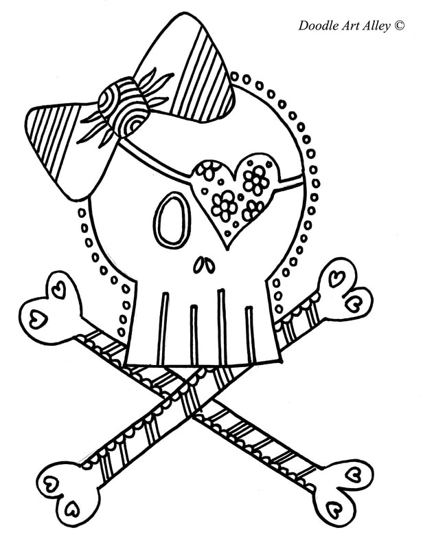 Pirate Coloring pages Doodle Art Alley