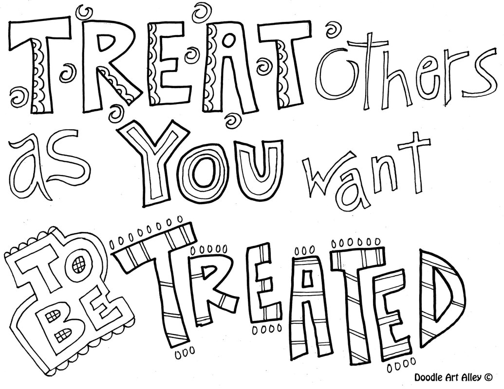 Kindness Quote Coloring Pages