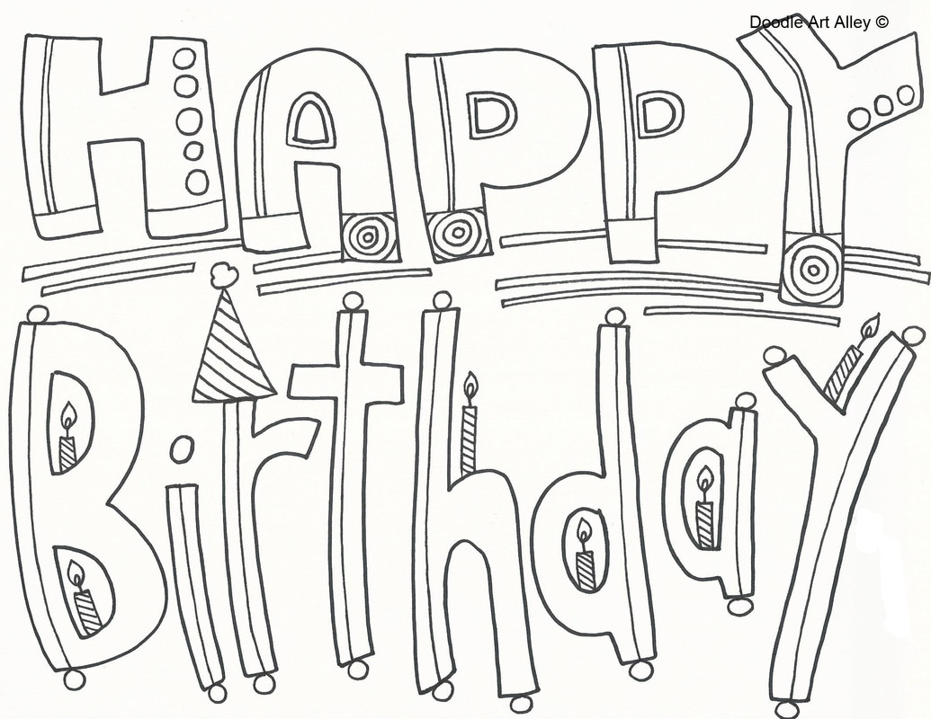 happy birthday - Birthday Coloring Sheets