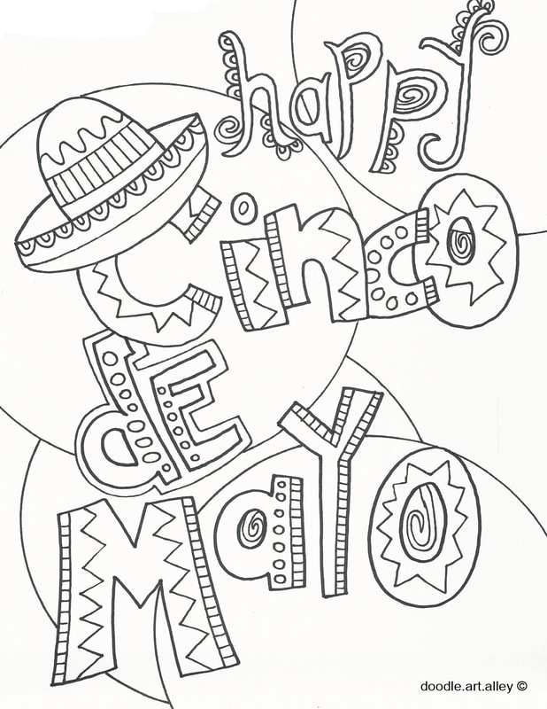 photo relating to Cinco De Mayo Coloring Pages Printable identify Cinco de Mayo Coloring Web pages - Doodle Artwork Alley
