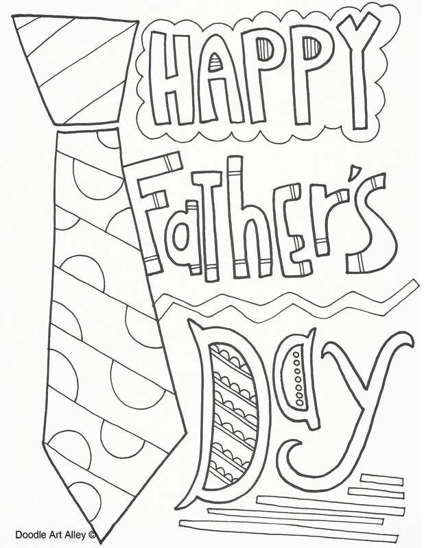 Fathers Day Coloring Pages - Doodle Art Alley