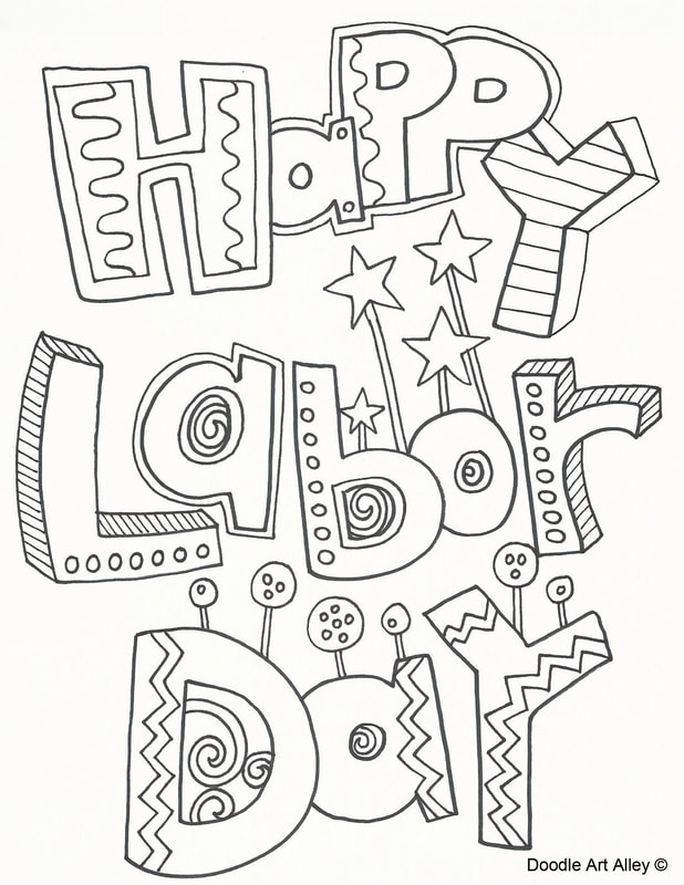 labor day coloring pages Labor Day Coloring Pages   Doodle Art Alley labor day coloring pages