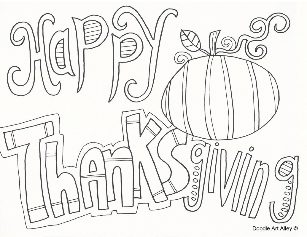 Thanksgiving Coloring Pages Doodle