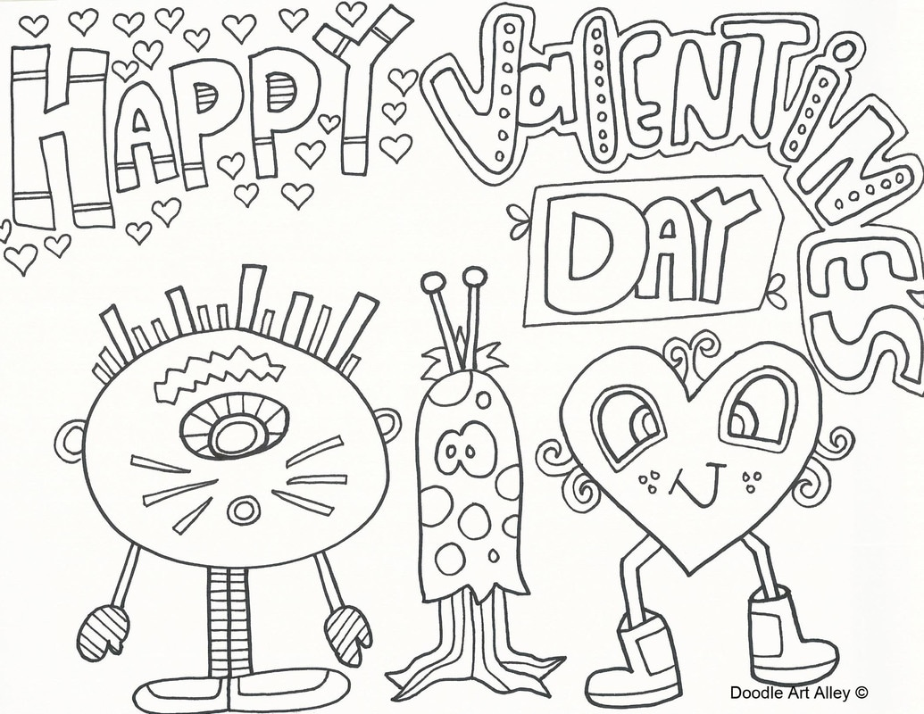 coloring pages for valantine - photo#30