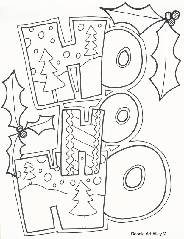 christmas art coloring pages - photo#28