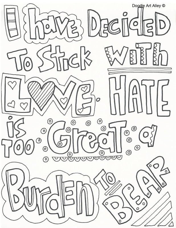 Martin Luther King Jr. Coloring Pages - Doodle Art Alley