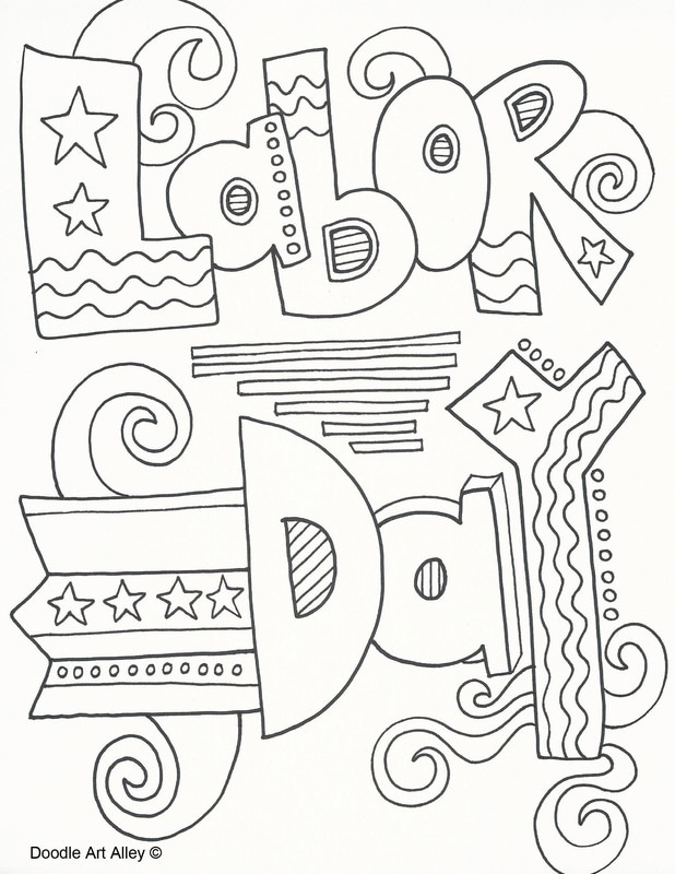 Holiday Coloring Pages - Doodle Art Alley