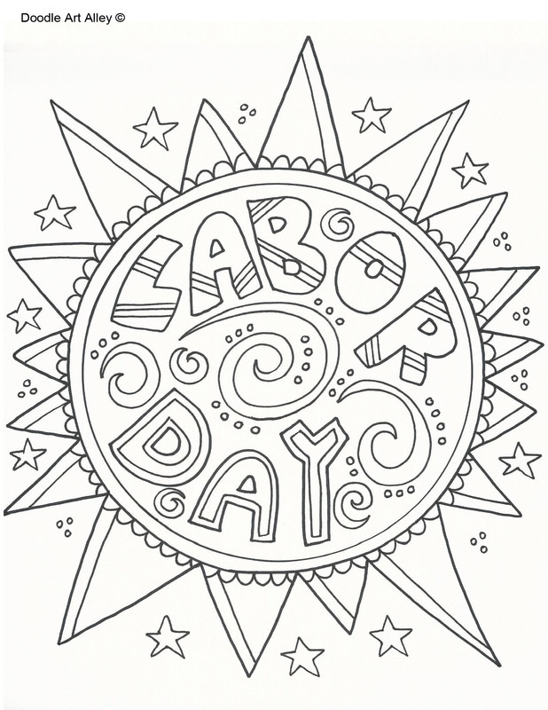Labor Day Coloring Pages Doodle