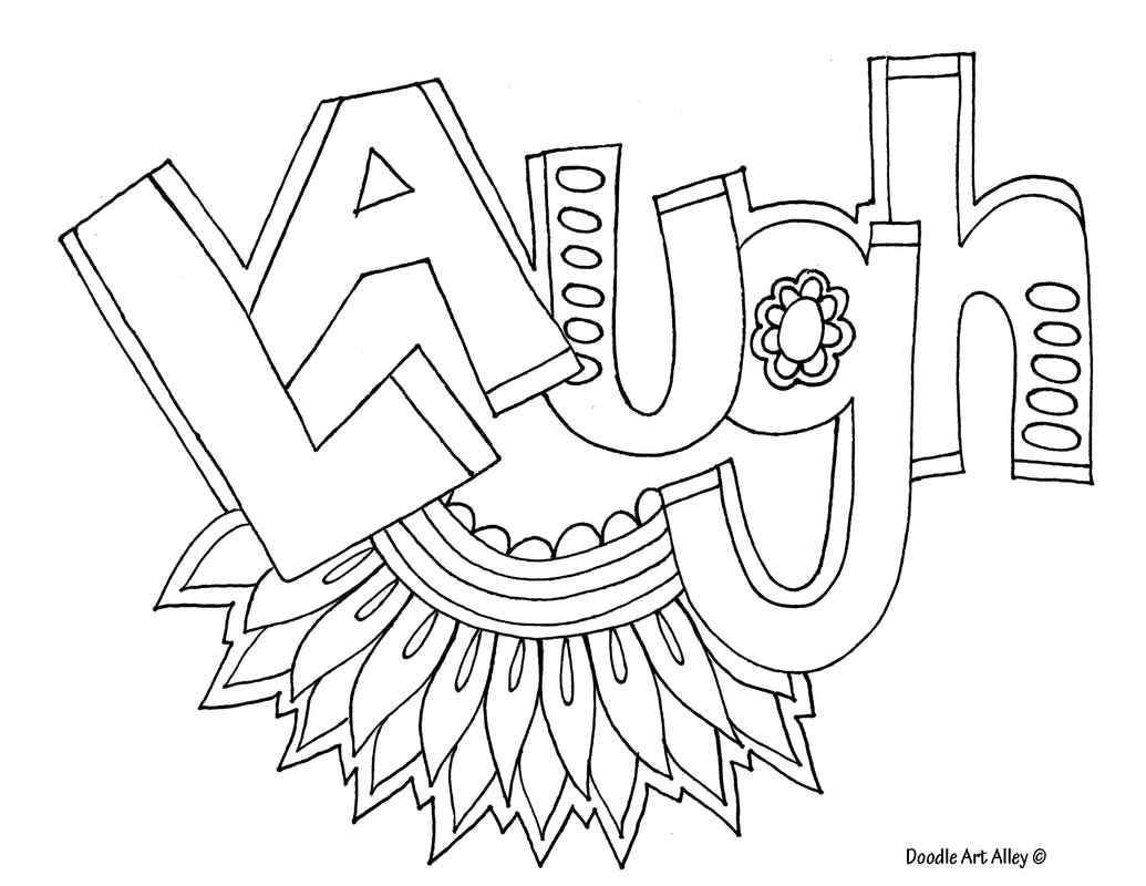Word Coloring pages Doodle Art