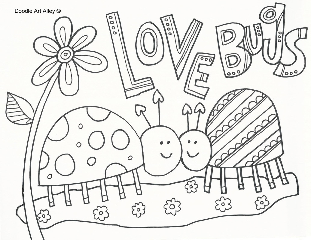 love insect coloring pages - photo#14