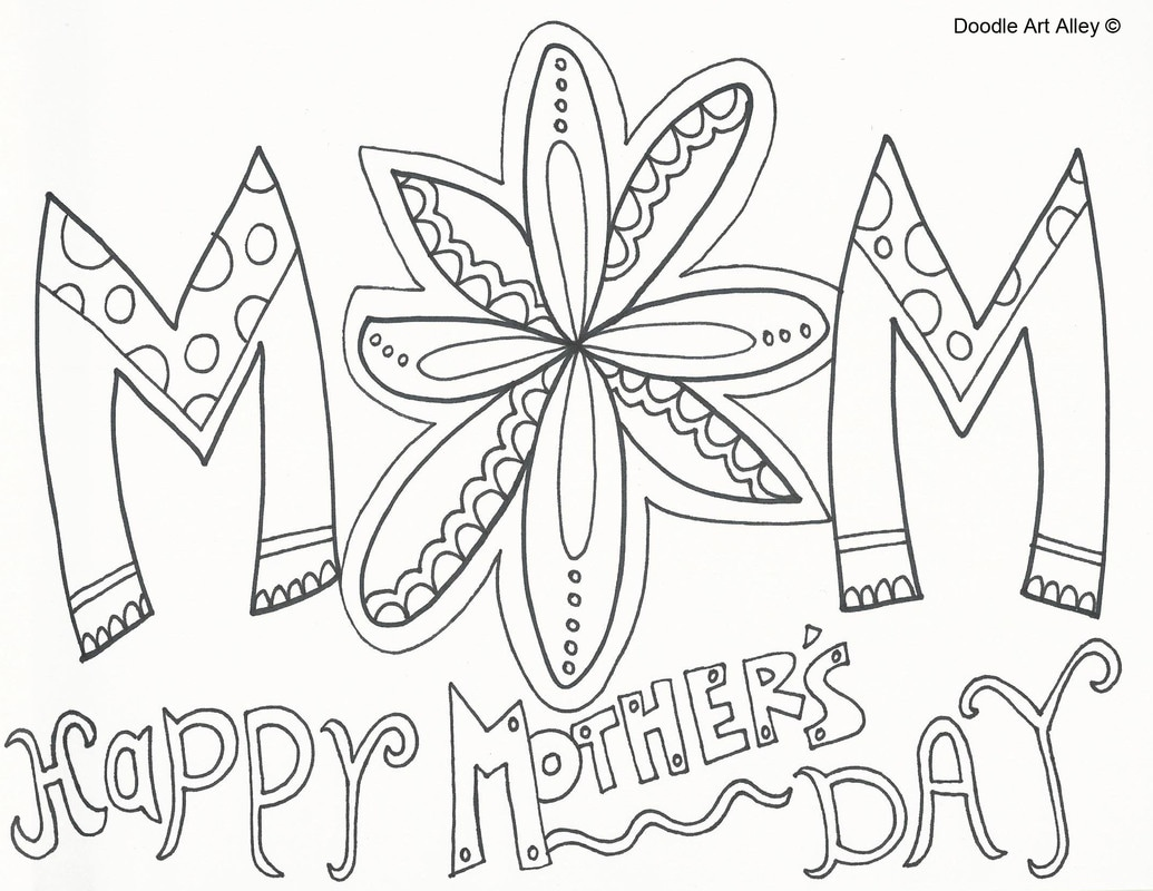 Coloring pages for mom