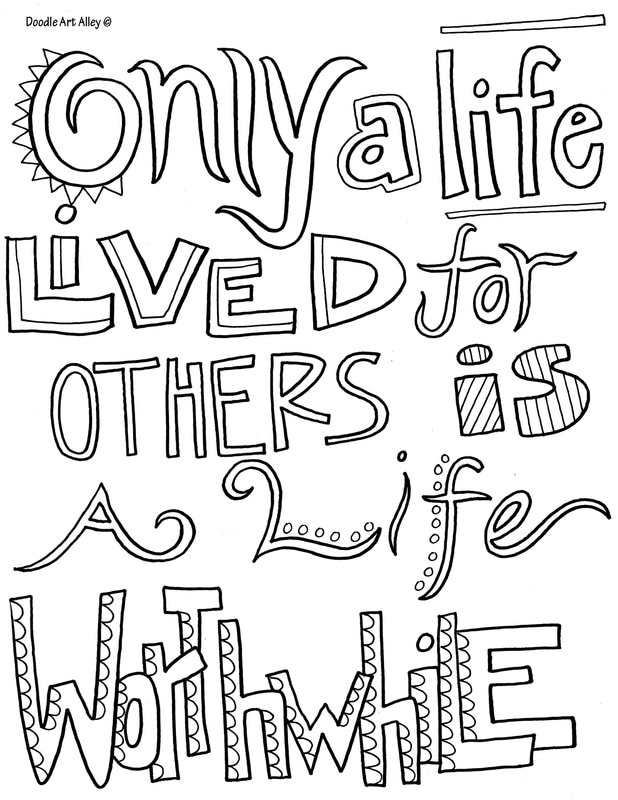 Free Quotes About Life Best Quote Coloring Pages  Doodle Art Alley