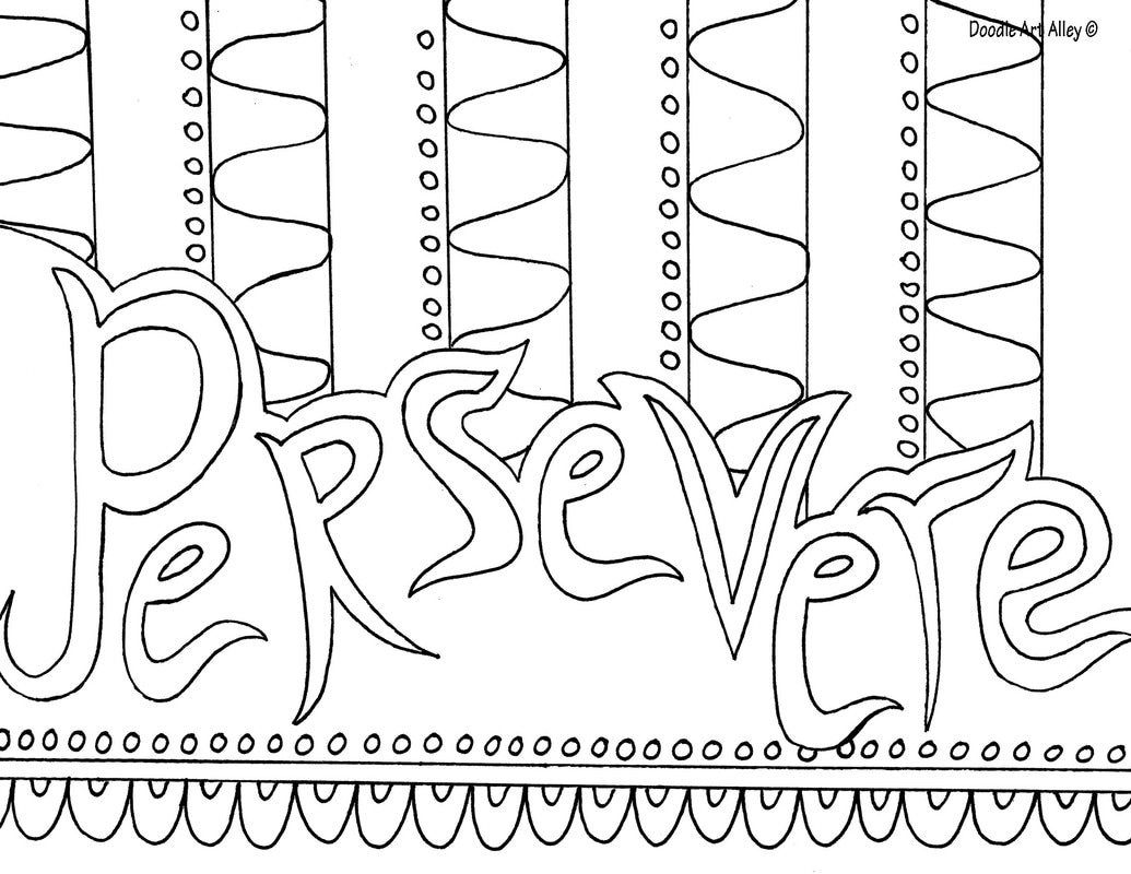 perseverance coloring pages | Word Coloring pages - Doodle Art Alley