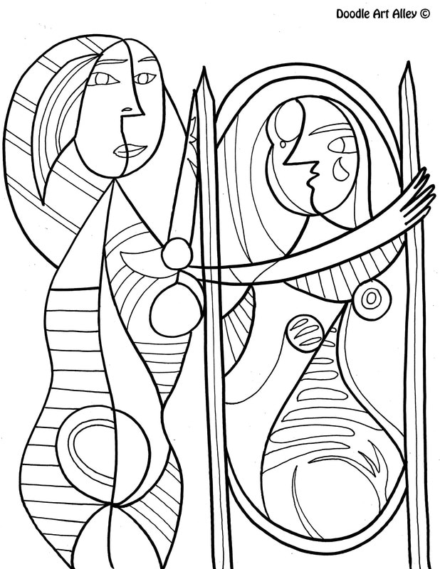 free artist coloring pages - photo#4