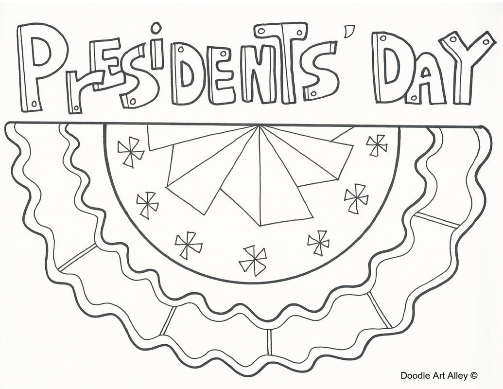 Presidents Day Coloring Pages - Doodle Art Alley