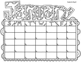 Calendar Coloring Pages