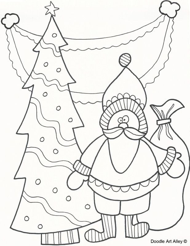 christmas art coloring pages - photo#9