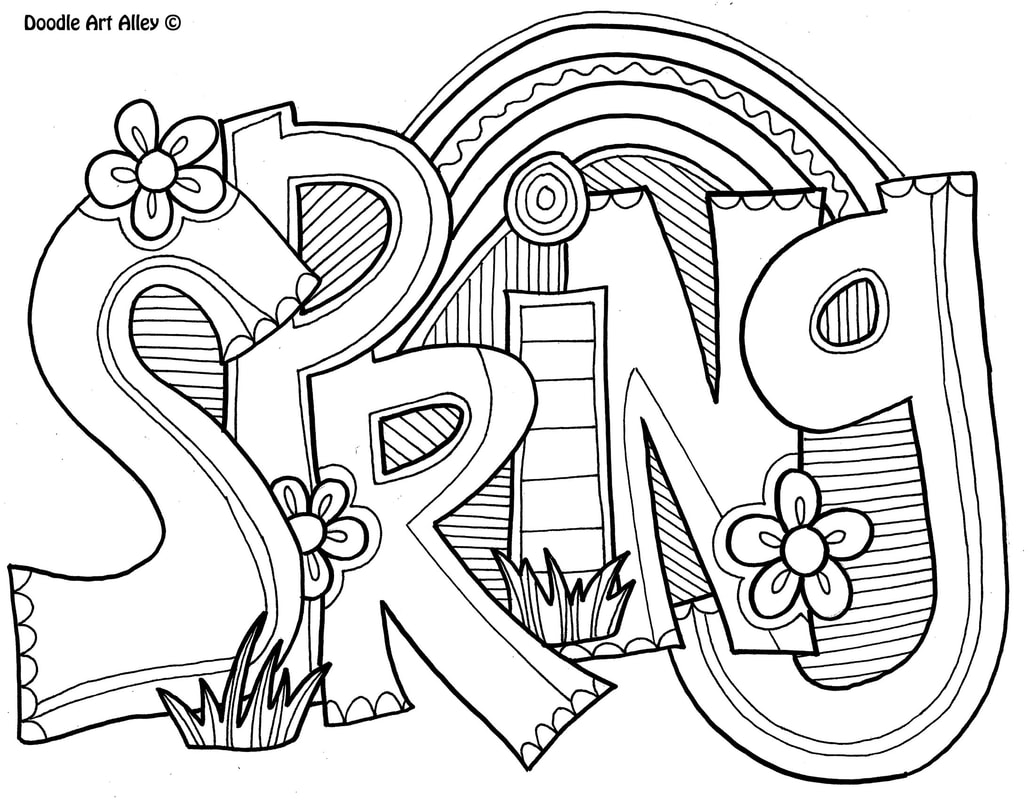 Spring Coloring pages - Doodle Art Alley