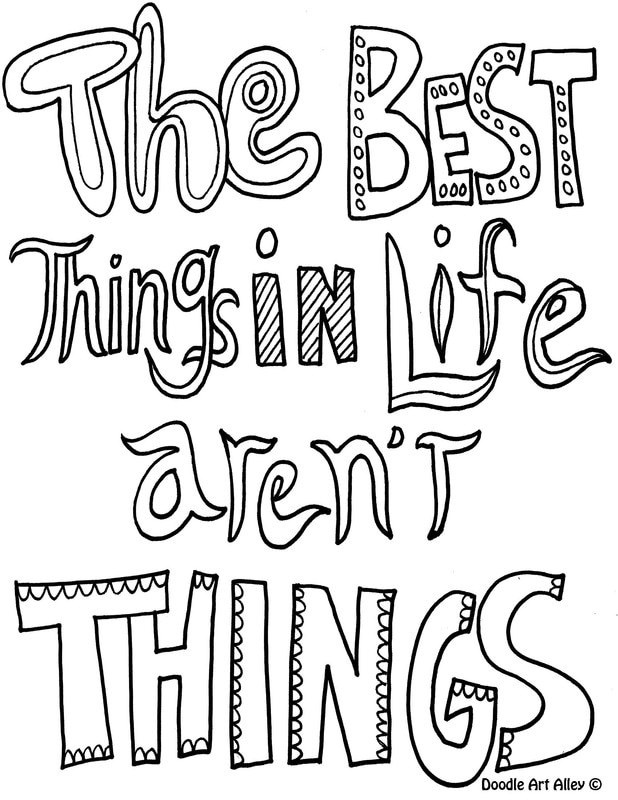 Quote Coloring Pages Doodle Art Alley