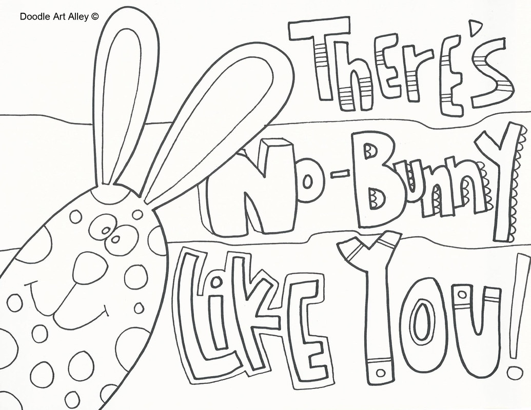easter coloring pages doodle art alley