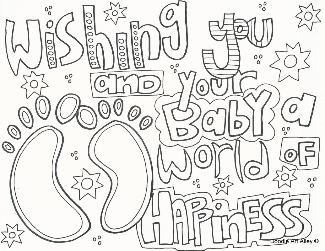 Baby Coloring Pages Doodle Art