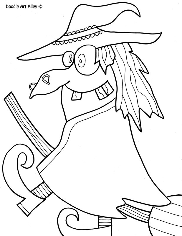 witch - Coloring Pages Witch