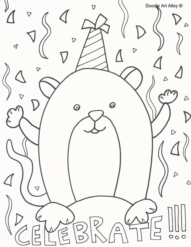 Free Printable Happy Birthday Coloring Pages With Dogs, Download ... | 800x618