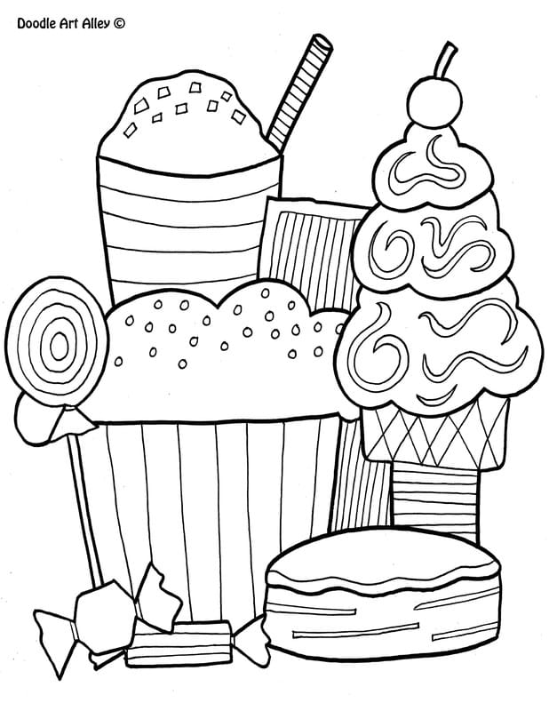 - Food Coloring Pages - DOODLE ART ALLEY