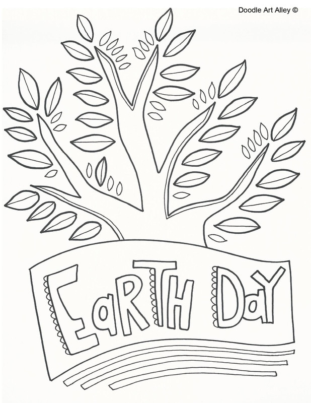 Earth Day Coloring Pages - DOODLE ART ALLEY