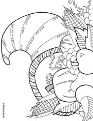Thanksgiving Coloring Pages - Doodle Art Alley