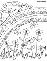 Spring Coloring Pages Doodle Art Alley