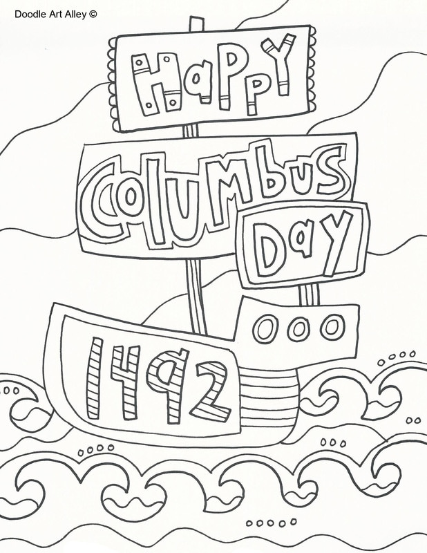 Columbus day coloring pages murderthestout for Christopher columbus coloring pages printable