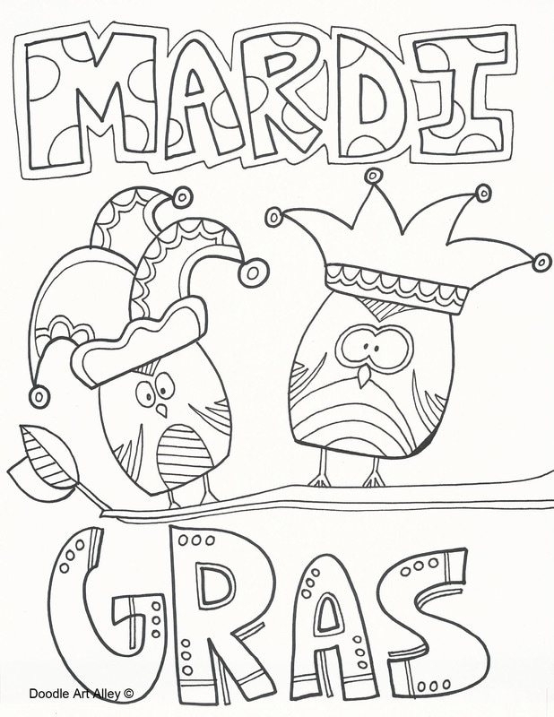 Festival Of Mardi Gras coloring page | Free Printable Coloring Pages | 800x618