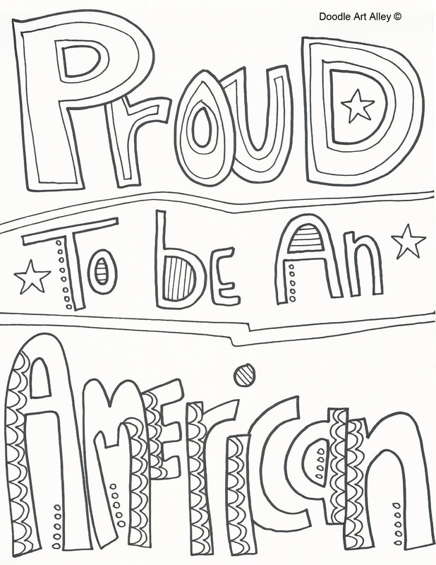 Independence Day Coloring Pages - DOODLE ART ALLEY
