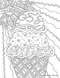 Summer Coloring pages - DOODLE ART ALLEY