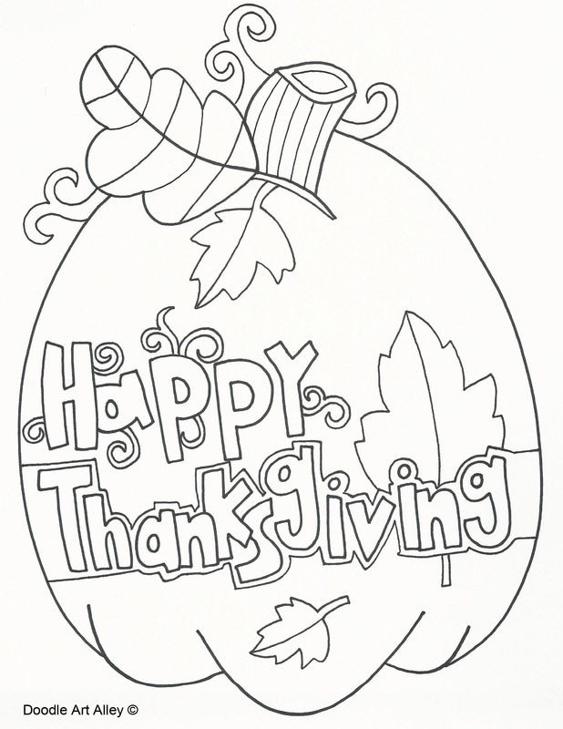 - Thanksgiving Coloring Pages - DOODLE ART ALLEY