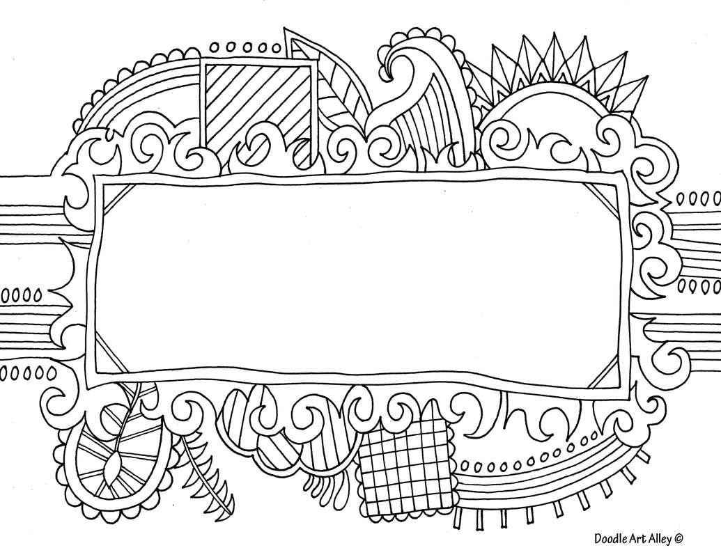 Name Templates Coloring pages - DOODLE ART ALLEY
