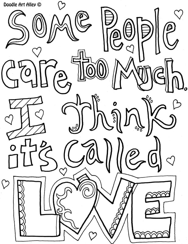 - Kindness Quote Coloring Pages - DOODLE ART ALLEY